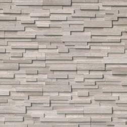 """M S International - Natural Stone Ledgers White Oak 3d Hon Corner """" L"""" Panel Honed 6 X 24 Ledgers"""