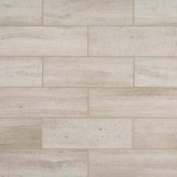 M S International - Natural Stone Marble White Oak Honed Honed 4 X 12 Marble