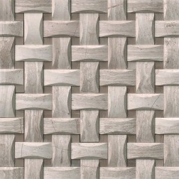 M S International - Natural Stone Marble White Oak Arched Basketweave Honed Pattern Marble