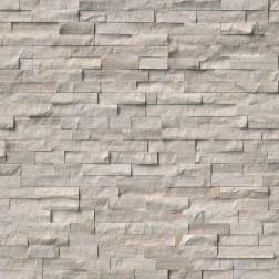 """M S International - Natural Stone Ledgers White Oak Splitface """" L"""" Panel Honed 6 X 24 Ledgers"""