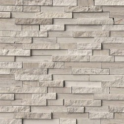 M S International - Natural Stone Marble White Quarry Splitface Misc. Pattern Marble