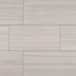 M S International - Tile Sophie White Matte 12 X 24 Porcelain Stone Looks